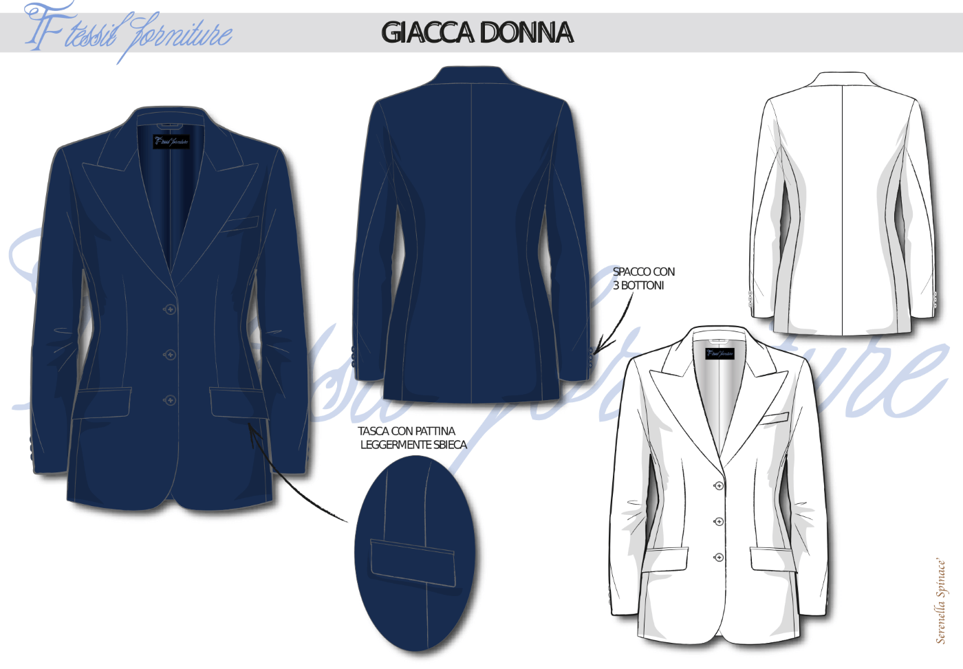 Bozzetto giacca donna - Tessil Forniture